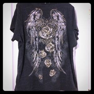 Plus size 3x Maurice's short sleeve bling shirt